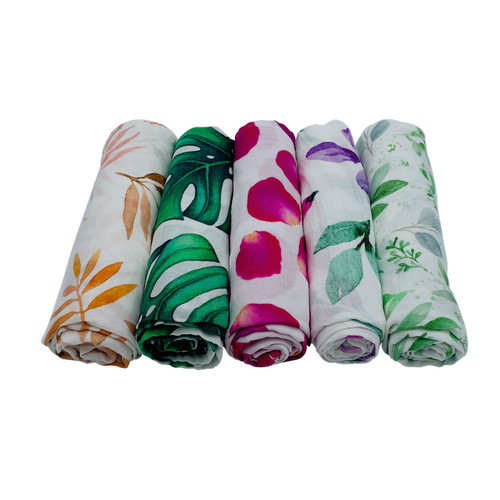100% Organic Cotton Wrap - Garden Palm