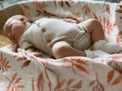Organic Cotton Baby Wrap - Liquid Amber