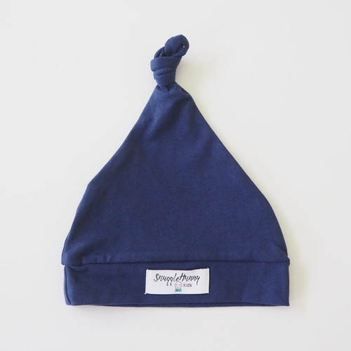 Snuggle Hunny Kids -Navy Knotted Baby Beanie