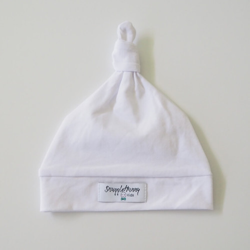 Snuggle Hunny Kids - White Knotted Baby Beanie