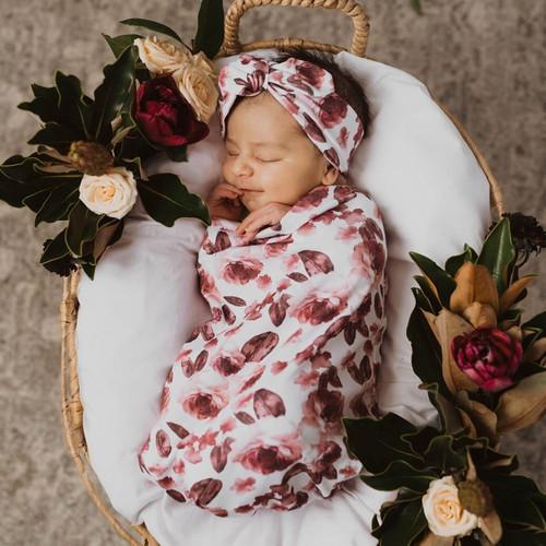 Snuggle Hunny Kids - Fleur Snuggle Swaddle & Topknot Set