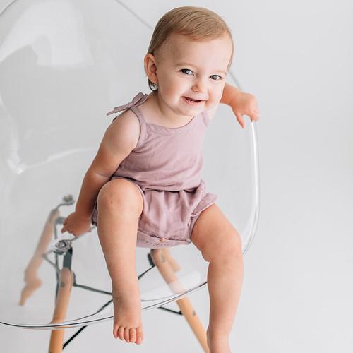 L'oved Baby Organic Muslin Ruffle Bodysuit