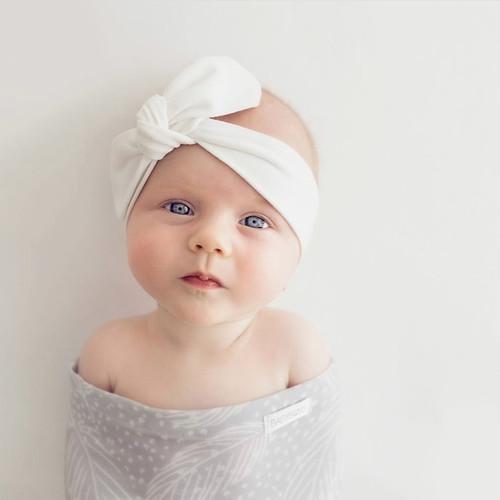 Snuggle Hunny Kids - Classic White Topknot Headband