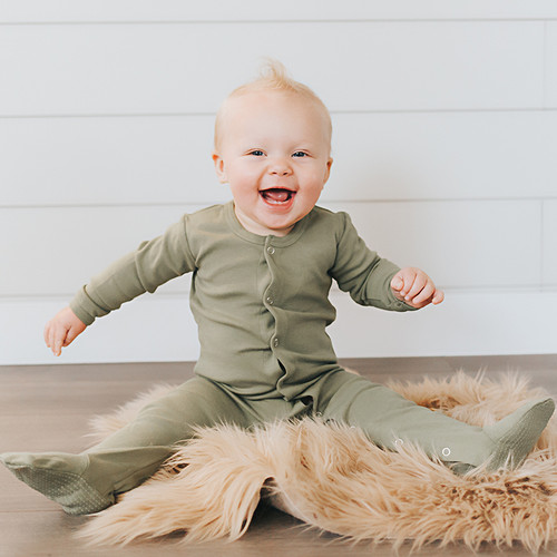 L'oved Baby Organic Jumpsuit in Sage