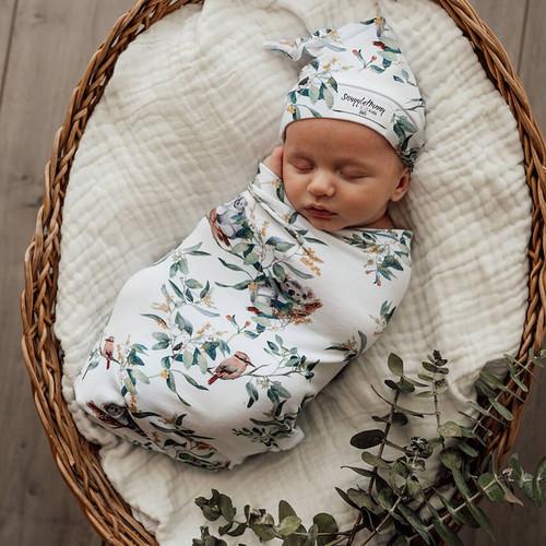 Snuggle Hunny Kids - Eucalypt Snuggle Swaddle & Beanie Set