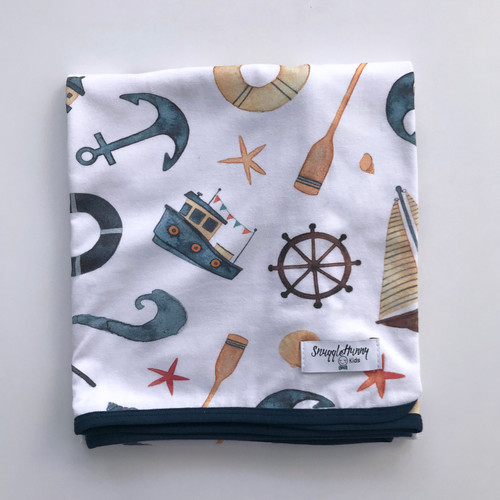 Snuggle Hunny Kids - Shipwreck Baby Jersey Wrap & Beanie Set