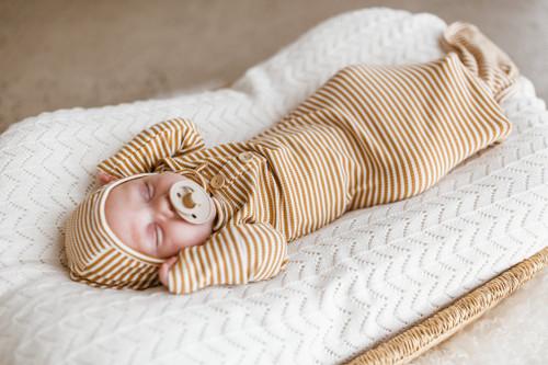 Two Darlings - Mustard Stripe Gown