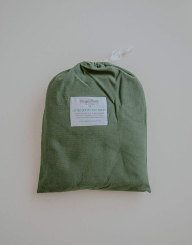 Snuggle Hunny Kids - Olive Fitted Cot Sheet