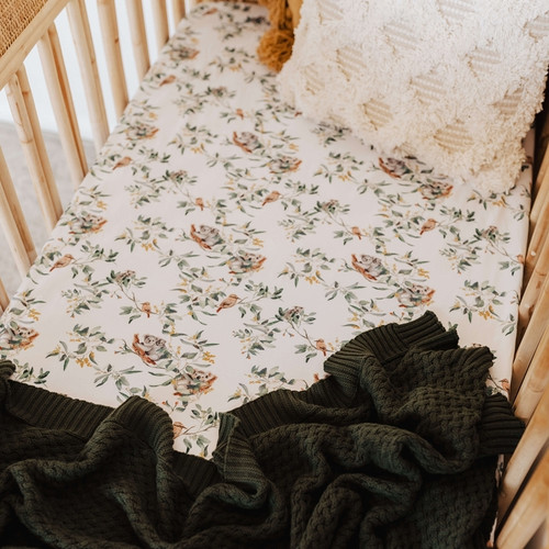 Snuggle Hunny Kids - Eucalypt | Fitted Cot Sheet