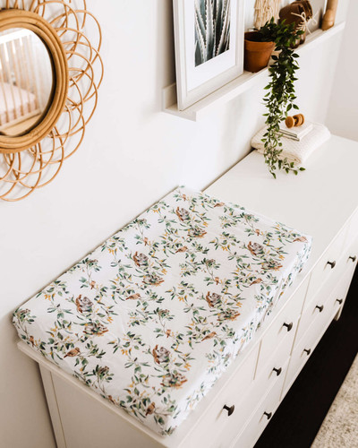 Snuggle Hunny Kids - Eucalypt | Bassinet Sheet / Change Pad Cover