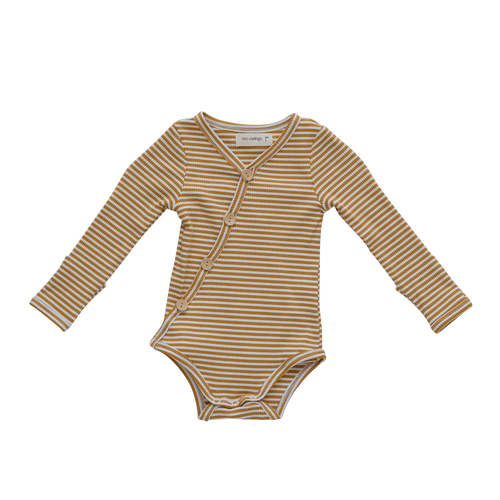 Two Darlings - Mustard Stripe Bodysuit