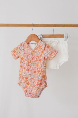 Two Darlings - Wildflower Short Sleeve Bodysuit