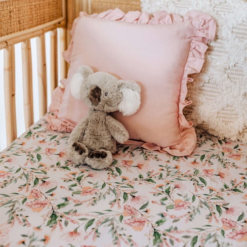 Snuggle Hunny Kids - Wattle Fitted Cot Sheet