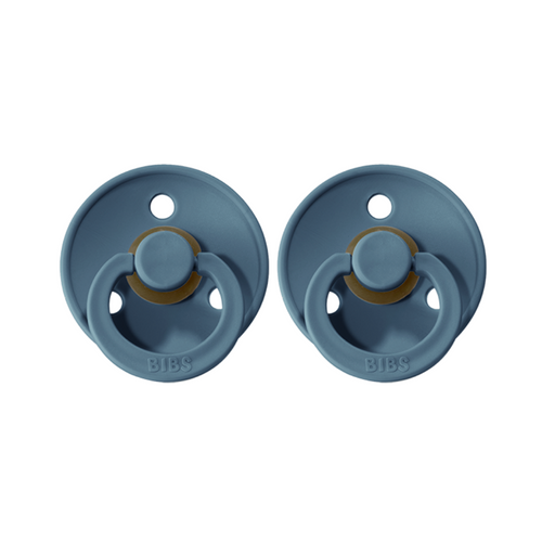 BIBS Dummies Twin Pack (Size 2) - Petrol Blue