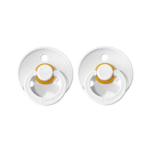 BIBS Dummies Twin Pack (Size 2) - White