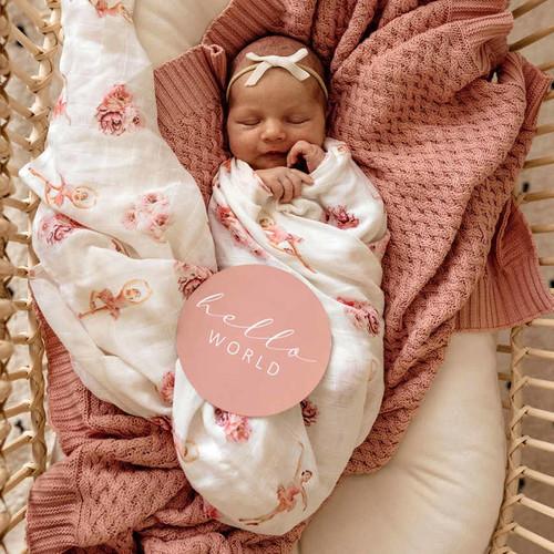 Snuggle Hunny Kids - Ballerina Organic Muslin Wrap