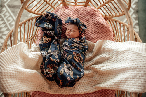Snuggle Hunny Kids - Belle Baby Jersey Wrap & Topknot Set