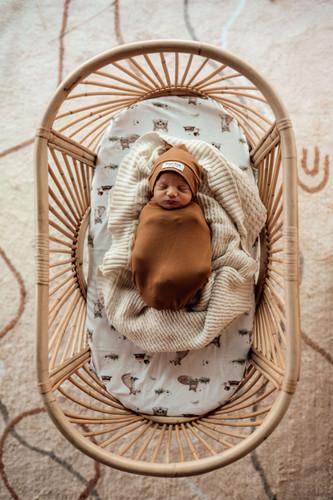 Snuggle Hunny Kids - Bronze Snuggle Swaddle & Beanie Set