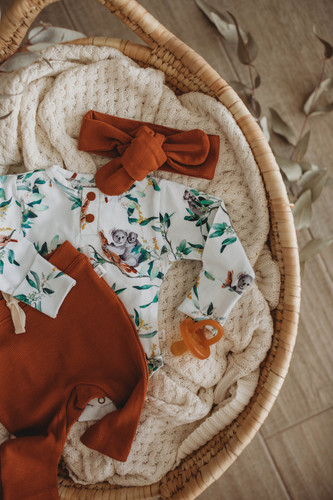Snuggle Hunny Kids - Eucalypt Long Sleeve Bodysuit