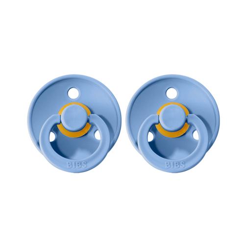 BIBS Dummies Twin Pack (Size 1) - Sky Blue