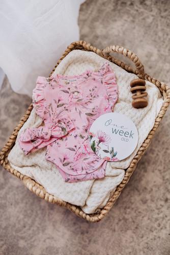 Snuggle Hunny Kids - Pink Wattle Short Sleeve Bodysuit