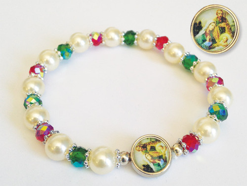 "7"" Christmas Stretch Bracelet"