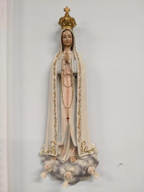 "Lady of Fatima wall statue 15"""