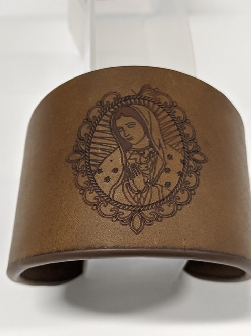 Bracelet  cuff with O L of Guadalupe