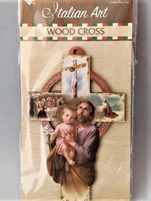 "Wood Cross Last Supper 5"""