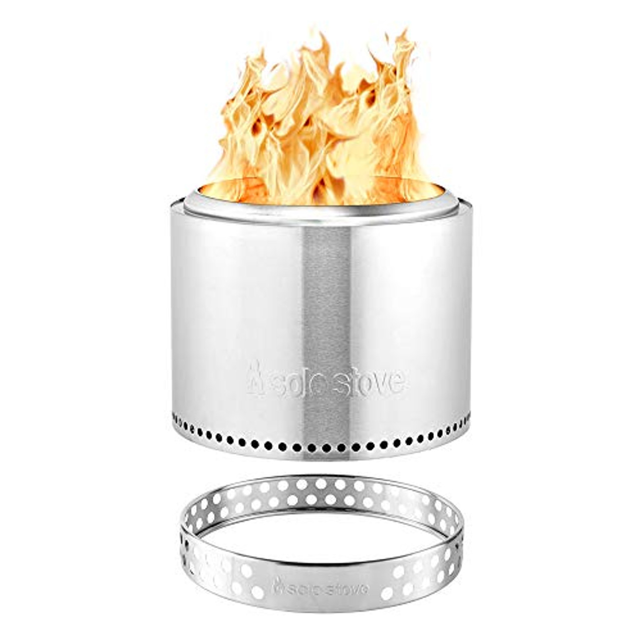 Solo Stove Bonfire Stainless Steel Wood Burning Smokeless Bonfire with Stand and Carrying Case, Large 19.5 inch