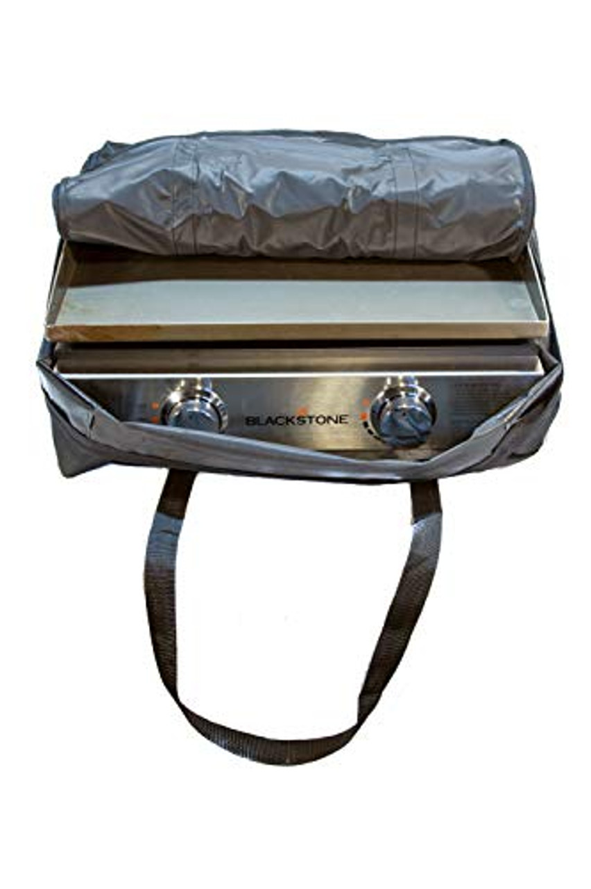 """22"""" Table Top Griddle Carry Bag with Accessories Storage Pockets, Designed for 22 Inch Blackstone Portable Tabletop Grill, Deluxe Carrying Case for BBQ Toolkit Utensils and Squeeze Bottles"""