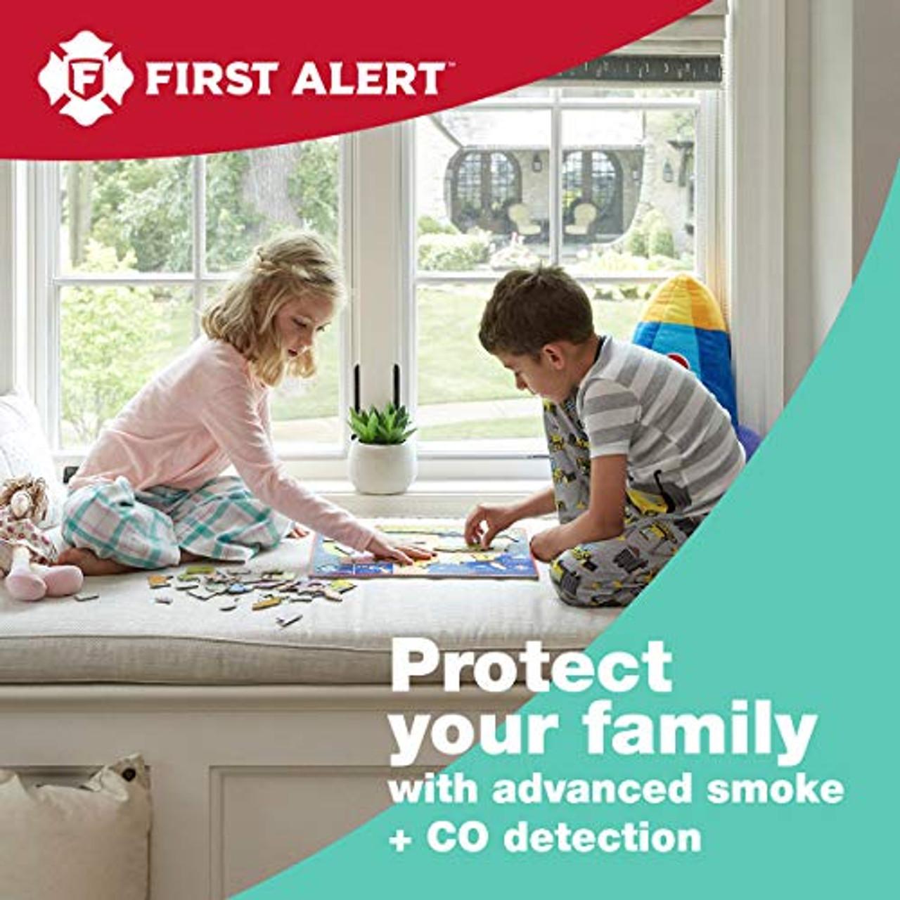 First Alert ZCOMBO 2-in-1 Smoke Detector & Carbon Monoxide Alarm, Z-Wave Combo