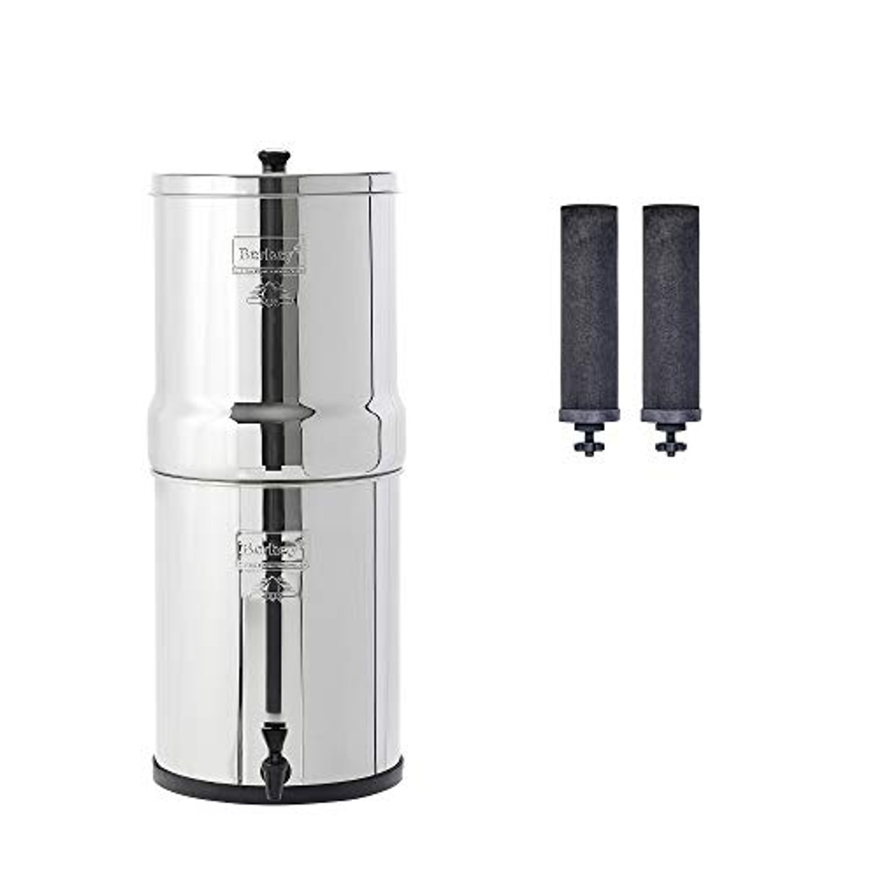 Royal Berkey Gravity-Fed Water Filter with 2 Black Berkey Purification Elements