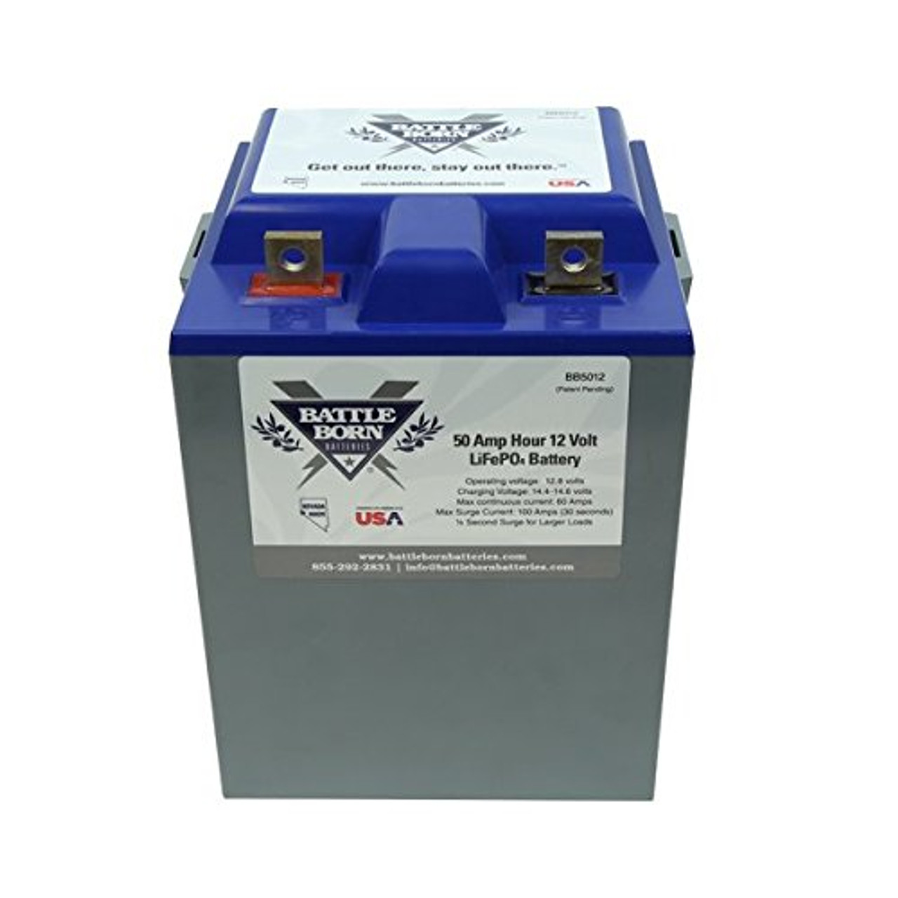 Battle Born LiFePO4 Deep Cycle Battery - 50Ah 12v with Built-in BMS - 3000-5000 Deep Cycle Rechargeable Battery - Perfect for RV/Camper, Marine, Overland/Van, and Off Grid Applications