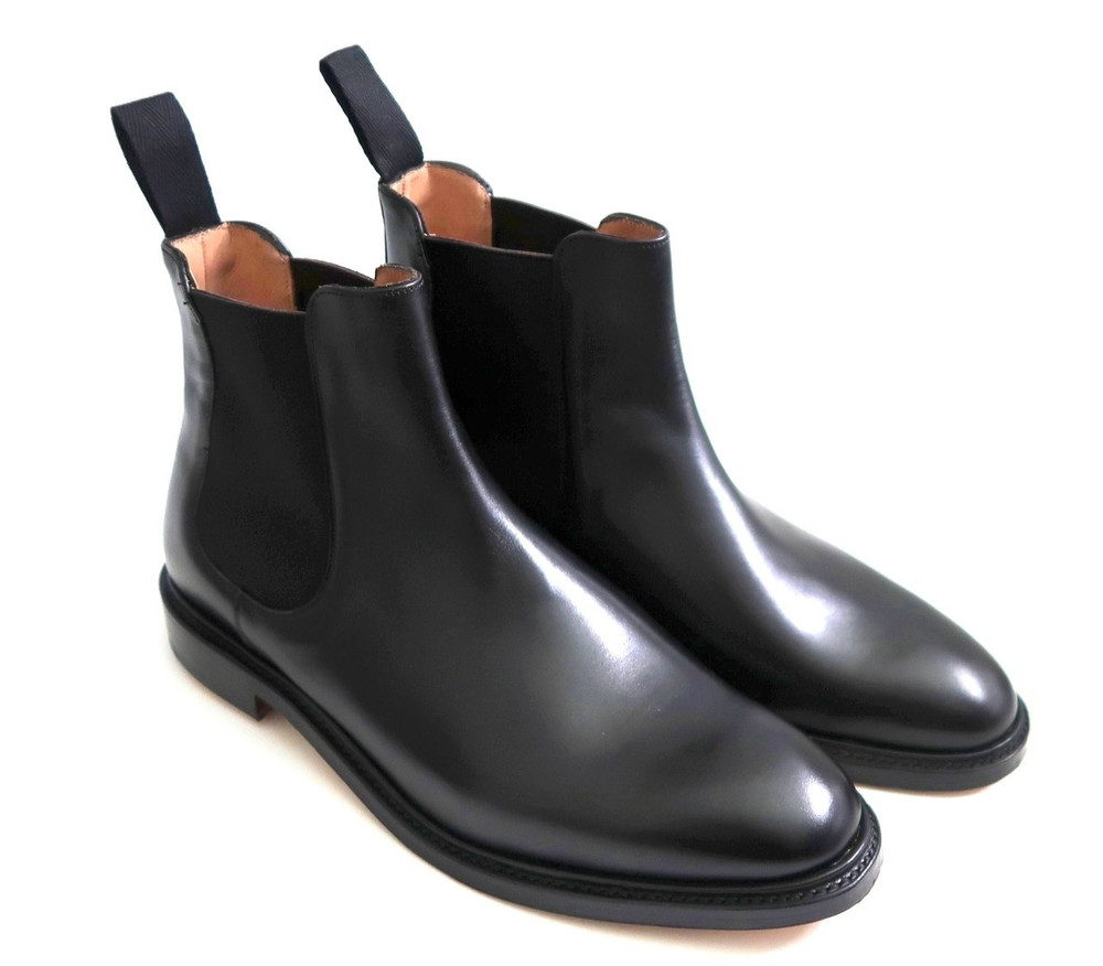 CARLETON black calf Chelsea boot 10.5G
