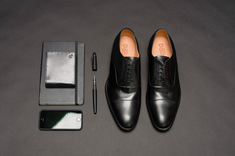 The Ultimate Businessman's Shoe – Dack's Black Cap Toe Oxford