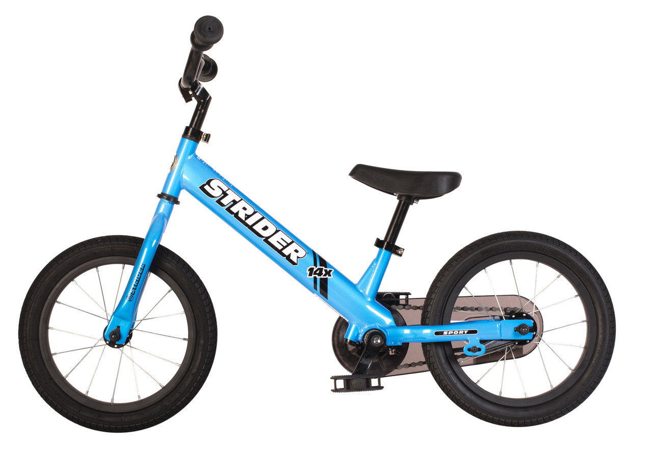 STRIDER 14x Sport 2 in 1 BLUE Balance Bike w Pedal Kit Learn To Ride