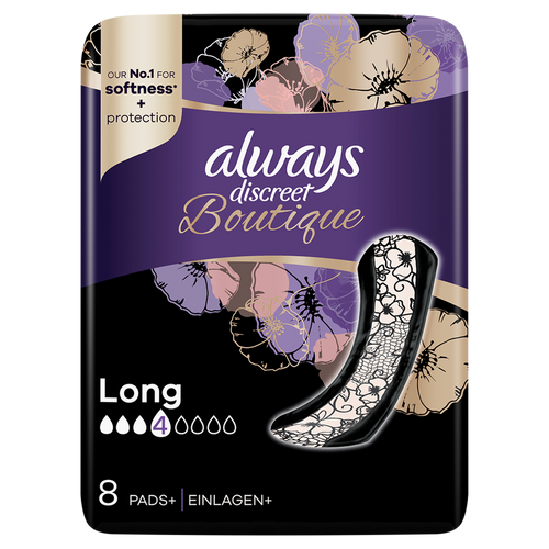 Always Discreet Boutique Long Pads for heavy leaks
