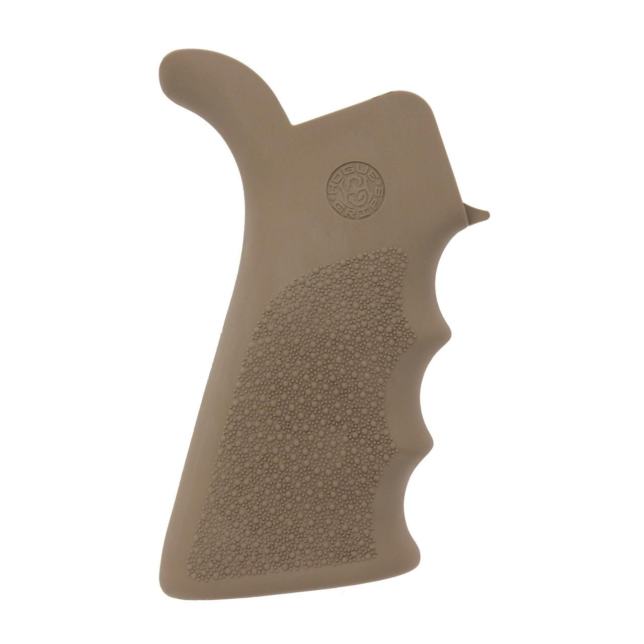 Hogue AR-15 Rubber Grip Beavertail w/Finger Grooves Desert Tan