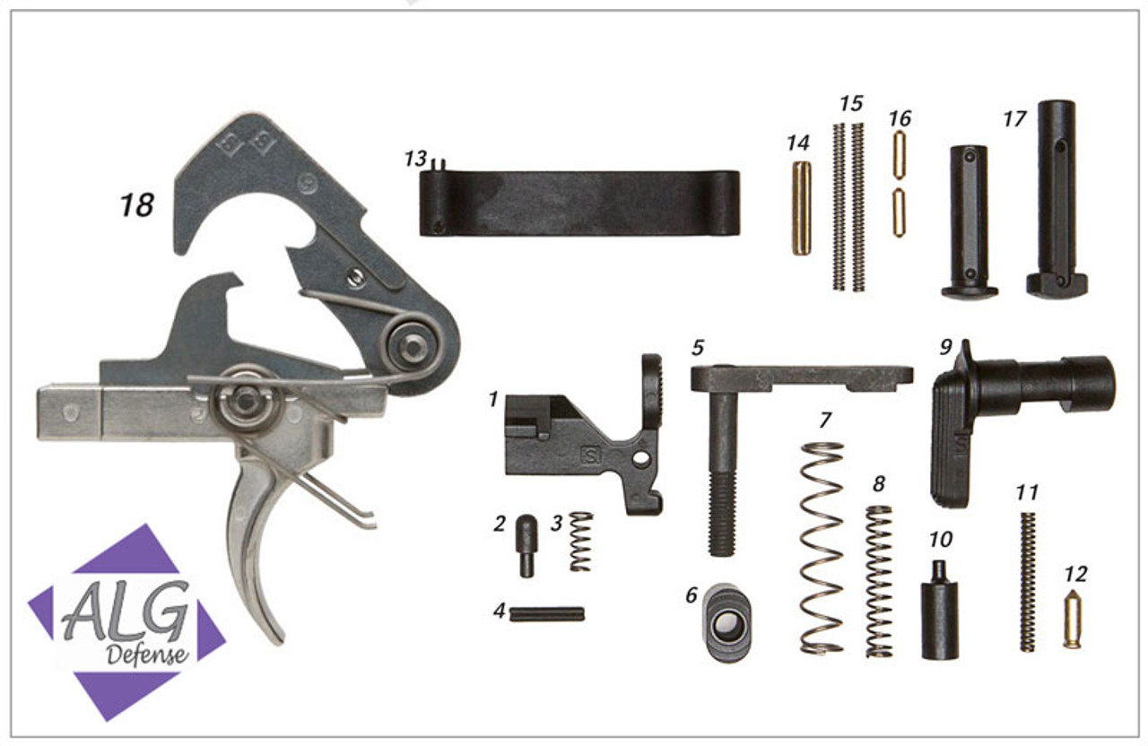 ALG Complete Lower Parts Kit with ACT Trigger