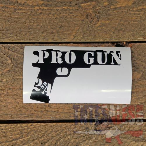 "Pro-Gun  Vinyl Decal 6""w x 4""h"