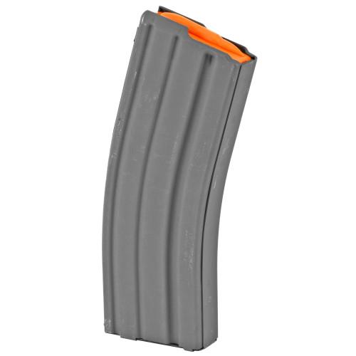 Ammunition Storage Components, Magazine, 223 Rem, Fits AR-15, 30Rd, Aluminum, Gray, Orange Follower