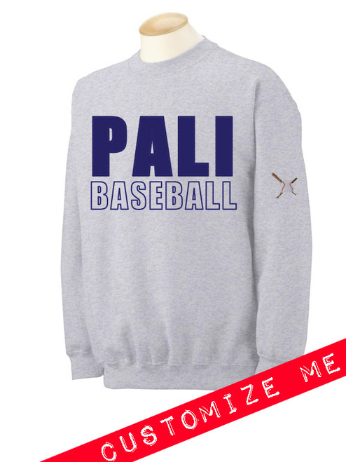 Pali High Baseball Twill Crewneck