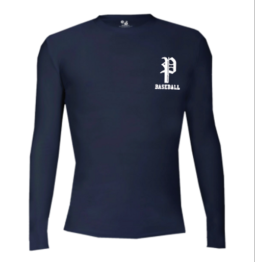 Navy Long Sleeve compression tee