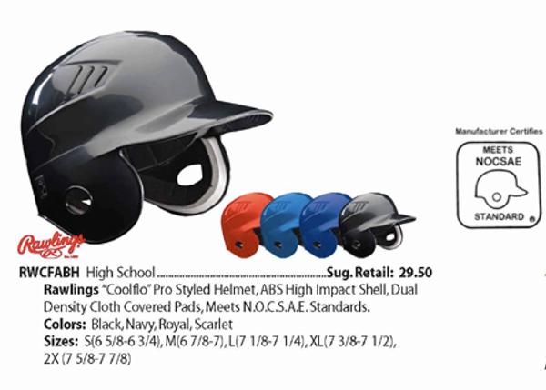 Rawlings Coolflo batting Helmet