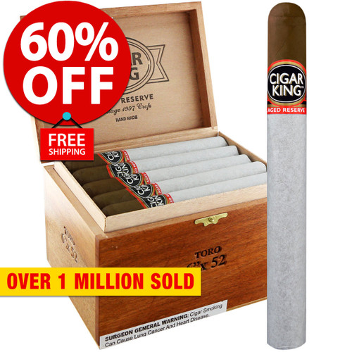 Cigar King Aged Reserve Maduro Churchill (7x50 / Box 25) + 60% OFF RETAIL! + FREE SHIPPING ON YOUR ENTIRE ORDER!