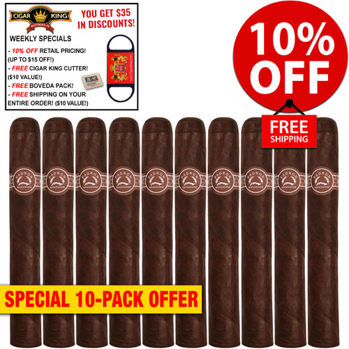 Padron Londres (5.5x42 / 10 PACK SPECIAL) + 10% OFF RETAIL + FREE CIGAR KING CIGAR CUTTER ($10 VALUE!) + BOVEDA HUMI-FRESH PACK + FREE SHIPPING ON YOUR ENTIRE ORDER!