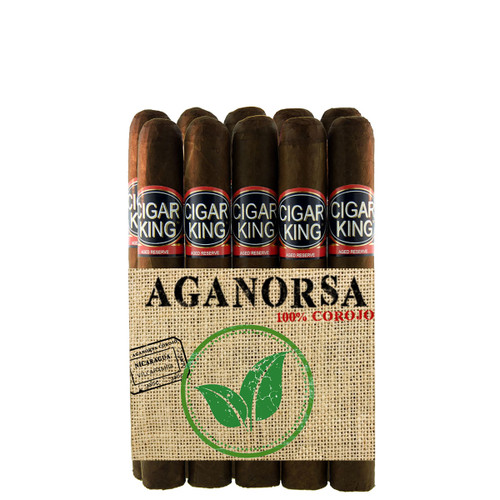 Cigar King Aganorsa Leaf #1 Maduro Corona (5.2x46 / 10 Pack) + FREE SHIPPING!