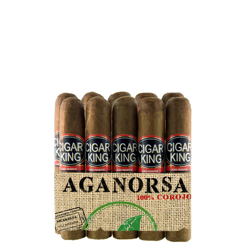 Cigar King Aganorsa Leaf #2 Corojo 99 Shorty (4x48 / 10 Pack) + FREE SHIPPING!