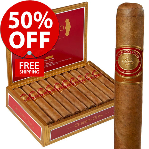 Gilberto Oliva Reserva Robusto (5x50 / Box of 20) + 50% OFF! + FREE SHIPPING ON YOUR ENTIRE ORDER!